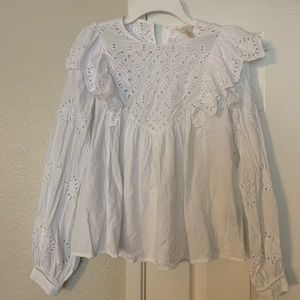 H&M embroidery top blouse